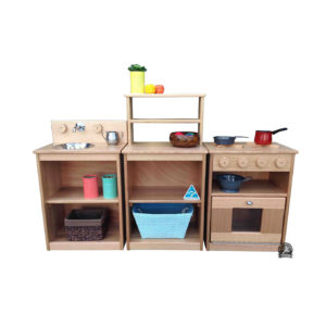 E-KITCH-START Solid Australian Hardwood Fully Constructed ESSENTIALS KITCHEN STARTER SET by MAN Made Creations